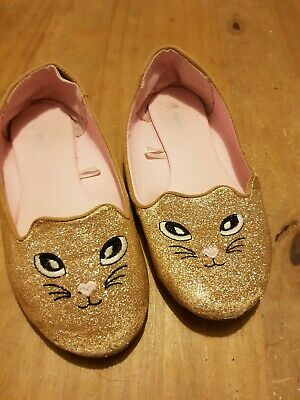 Girls sparkly Cat Shoes Size 1