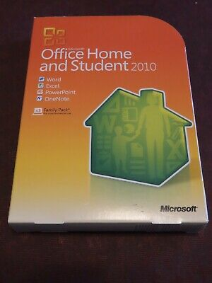 Microsoft Office 2010 Home and Student Family 3 Pack Licensed For Windows PC