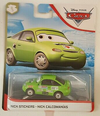 "SHIP WORLDWIDE DISNEY PIXAR CARS 3 /""NICK STICKERS METALLIC /"" NEW IN PACKAGE"