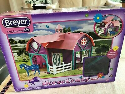 Breyer Stablemates Horse Crazy Barn - Complete just missing horse!