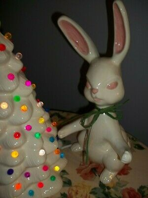 BIG VTG INSPIRED Easter Bunny 1960S ERA ARNELL MOLD CO. WHITE CHOCOLATE COLORED