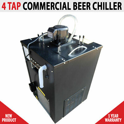 NEW Commercial 4 Tap Beer Ice Bank Chiller Cooler Flooded Tap Temprite