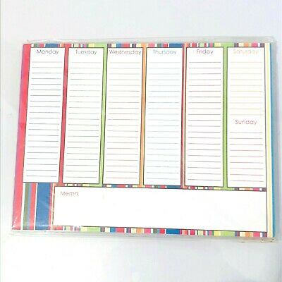Studio 18 Magnetic Weekly Planner With Tear Off Sheets - Multicolor Stripes