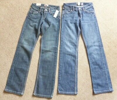 2 X Gap Kids (Boys) Staight Leg Stretch Jeans 10-11 Years (1 Pair Bnwt)