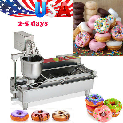 USA Commercial Electric Automatic Donut Maker Doughnut Making Machine 3 sets FDA