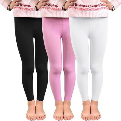 Girls Kids Winter Warm Fleece Thermal Stretchy Leggings Thick Lined Trouser Pant