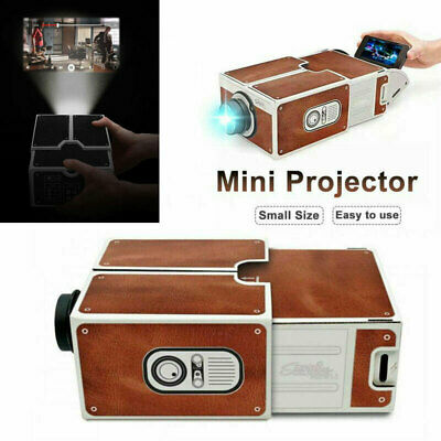 Mini DIY Cardboard Portable Smart Phone Projector  for Home Cinema Projector