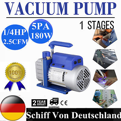 1-Stage High Performance Rotary Vane Deep Vacuum Pump 2.5CFM HVAC Field Tool New