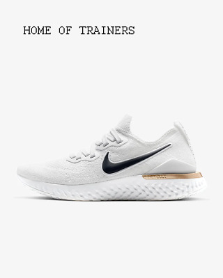 Nike Epic React Flyknit 2 White Rose Gold Girls Women's Trainers All Sizes