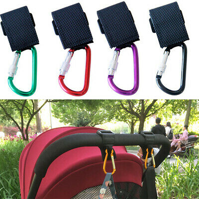 JW_ Buggy Strap Carabiner Clips Pram Bag Hooks for Pushchair Buggies Stroller