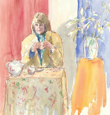 Contemporary Watercolour - Afternoon Tea