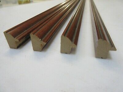 4 x 1m lengths (4m) Traditional Brown Wooden Picture Frame Moulding 16mm