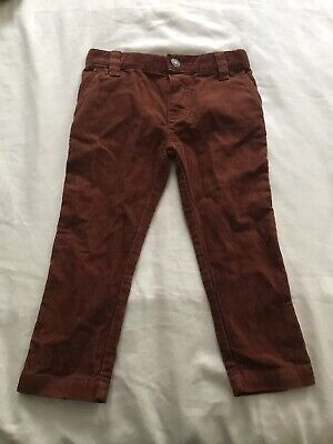 NEW John Lewis Rust Brown Corduroy Trousers Age 2 Years