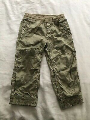 Gap Green Camoflage Trousers Age 2 Years
