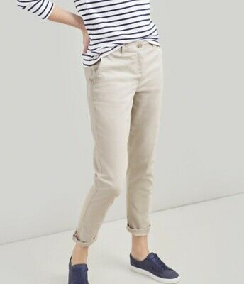 Joules Hesford Chinos Ivory Size UK 10 BNWT NEW