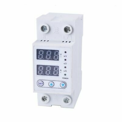 Din Rail Over Voltage And Under Voltage Protective Device Adjustable 63A 230V To