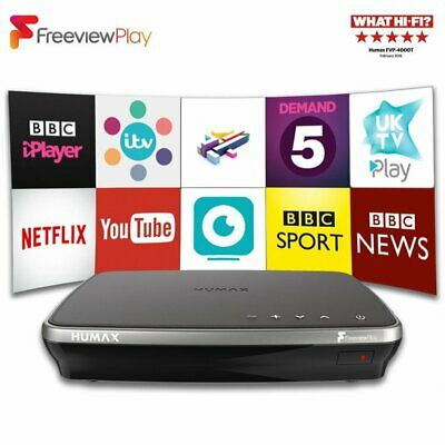 Humax FVP-4000T 1TB DVR Freeview Play HD Recorder Box With Wifi Catch Up TV