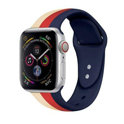 Designer Striped Silicone Band For Apple Watch