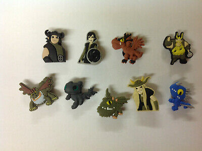 New How to Train Your Dragon Crocs Jibbitz, PVC Shoe Charms