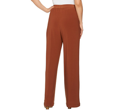 Linea by Louis Dell'Olio Moss Crepe Pants-Cinnamon-Medium-NEW-A273877