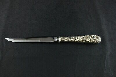 S Kirk & Son Repousse Sterling Silver Handled Steak Knife  - No Mono