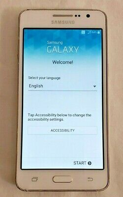 Samsung Galaxy Grand Prime phone white Cricket works SM-G530AZ