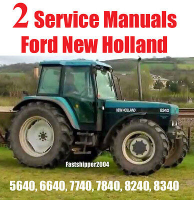 Ford New Holland 5640 6640 7740 7840 8240 8340 Factory Service Manual 1800 Pages