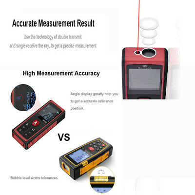 40m-100m Digital Laser Distance Meter Measurer Area Volume Range Finder Measure