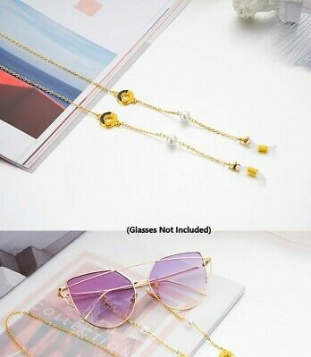 Sunglasses Eye Glasses Chain Holder Necklace Circle & Bead *dg170co-2c* - No1
