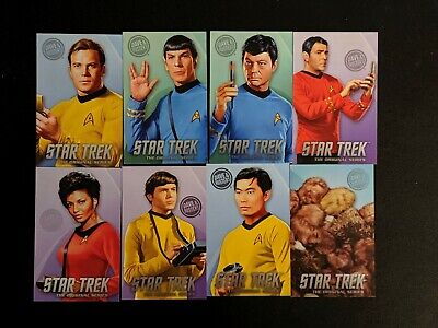 Dave and Busters Star Trek Cards Complete Set with Rare Tribbles Original Series