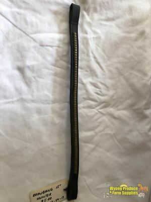 Leather Browband With Brass. 15 Inch