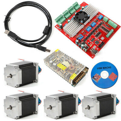 4 Axis TB6600 CNC Kit 2.0Nm(290oz.in) Nema 23 Stepper Motor & Driver Board