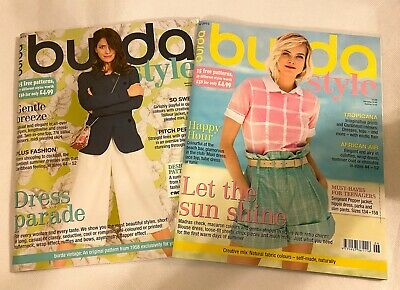 2 X Burda Style sewing magazine clothes and dress sewing patterns summer 2015
