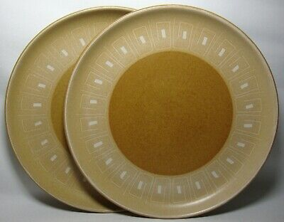 "2 x DENBY ODE 10"" DINNER PLATES IN VERY GOOD CONDITION"