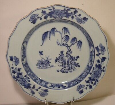 "9"" Chinese18th Century Blue And White Export Plate A/F (3)"