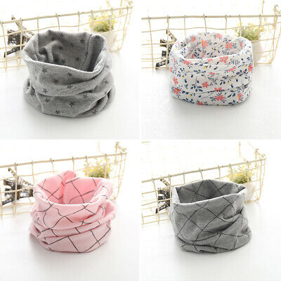 Child Winter Soft Scarf Cotton Kids Neck Warmer Cover Baby Snood Scarves Gift UK