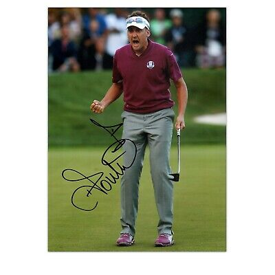 Ian Poulter Signed Photo: Birdie On The 16th | Autographed Golf Memorabilia