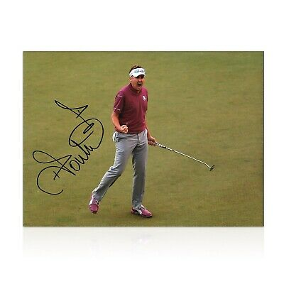 Ian Poulter Signed Photo: Birdie On The 17th | Autographed Golf Memorabilia