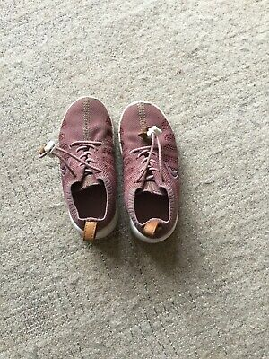 Girls brown Clarks trainers size 8.5f good used condition