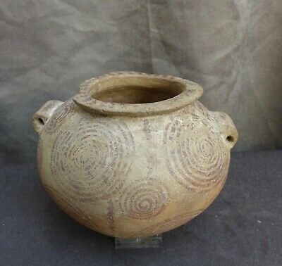 Very nice quality and RARE Pre Dynastic Naqada II. Egypt Vessel with a circle de