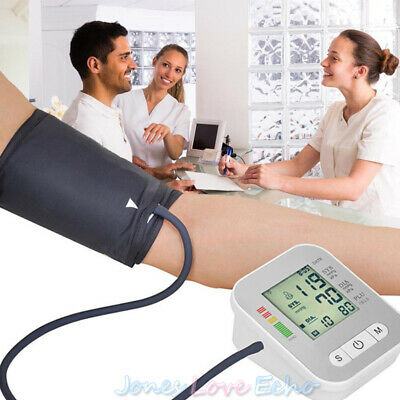 Automatic Digital Upper Arm Blood Pressure Monitor LCD Heart Rate Voice Talking