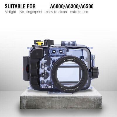 40m Underwater Diving Waterproof Housing Case Cover For Sony A6000/A6300/A6500
