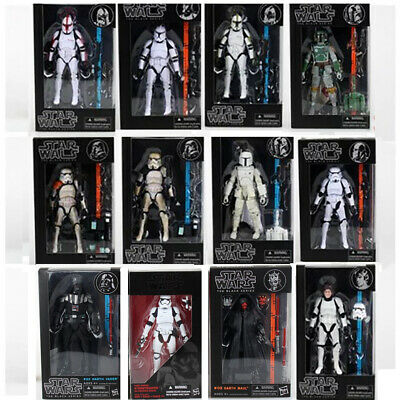 "Hasbro Star Wars The Black Series 6"" Action Figures Boba Fett Darth Maul Kids"