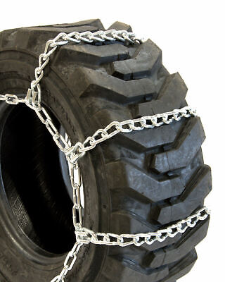 Titan Tractor Link Tire Chains Wide/Dual On/Off Road Ice/Snow/Mud 10mm 15-19.5