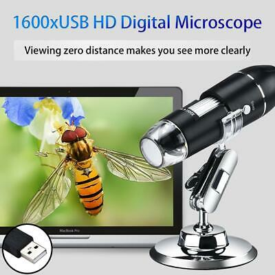 1600X Led USB Digital Microscope Magnifier for PC Android phone Tablet w/Stand