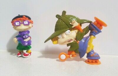 Vintage 1999 & 2001 Rugrats Figurines Suction Cup Angelica & Tommy