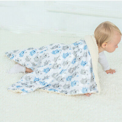 Thicken  Flannel  Baby Quilt Stroller Blanket Infant Swaddle  Muslin Wrap