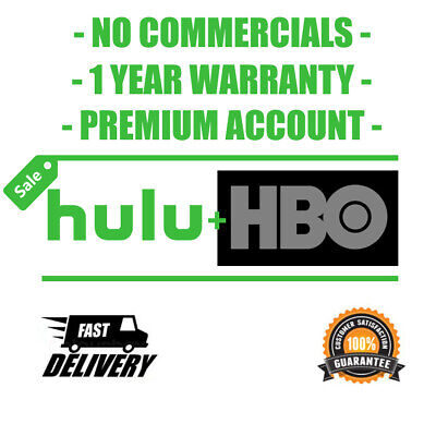 HULU PREMIUM + HBO | NO COMMERCIAL ACCOUNT 1 YEAR | INSTANT DELIVERY 30 seconds