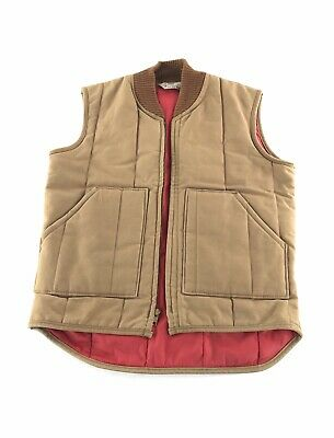Vintage Walls Blizzard Pruf Insulated Brown Vest Made In USA Medium