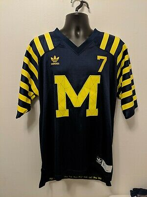 Michigan Wolverines 132 Years Champions Jersey #7 Size Mens Large